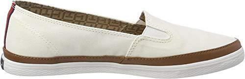Tommy Hilfiger Damen Iconic Kesha Slip ON Sneaker, Weiß (Whisper White 121), 41 EU