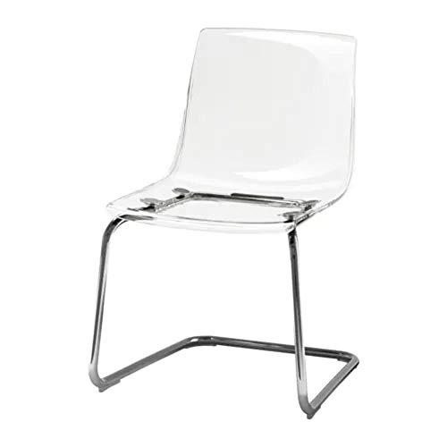 IKEA TOBIAS–Stuhl, transparent, verchromt