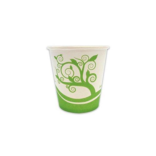ILIP PZ 70 Bicchieri ML 180 COMPOSTABILI di Carta BIODEGRADABILI per Cappuccino Cioccolata Calda Caffe' Bicchiere Cartone Termico BIO