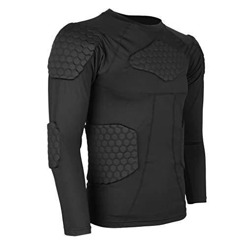 Générique Cool T-Shirt de Compression Entraînement Fitness T-Shirt - Plusieurs Tailles - Noir, XXL