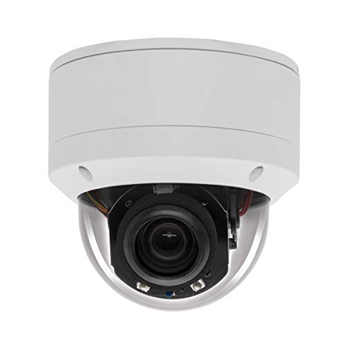 IP Security 5.0MP H.265 POE PTZ Dome Camera, Hikvision Compatible 5X Optical Zoom, Indoor/Outdoor Network Camera with Audio, Pan 355° Tilt 90°,Waterproof IP66 98ft Night Vision, Motion Detection