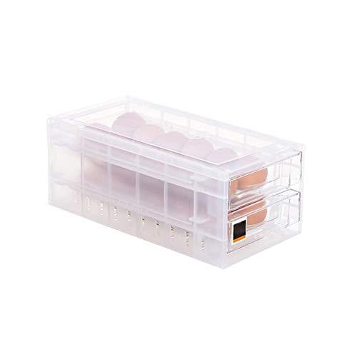Gaocunh 24 Huevos Cajón Huevo Caja de almacenamiento, plástico transparente Huevo Contenedor de almacenamiento con tapa portátil Huevo Holder para