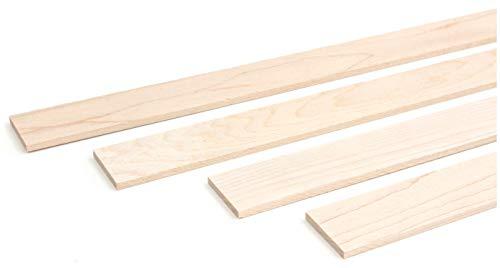wodewa Listón de madera de arce natural, 1 m, 30 x 4 mm, moldura decorativa para revestimiento de pared, techo o suelo, manualidades