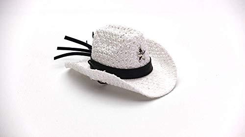 Carolina Designer Dragons' Bearded Dragon Cowboy Hat, White