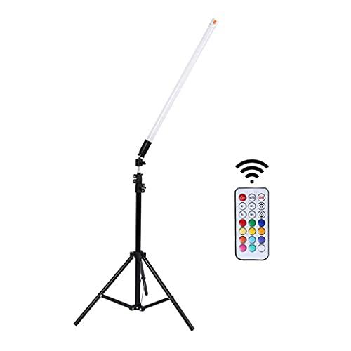Varita de Luz LED para Fotografía de Video con Mando a Distancia, 12 Colores, 32 Niveles de Brillo, USB Recargable, Palillo de Luz de Video LED Portátil ( Color : Tripod stand , Size : 60cm/23