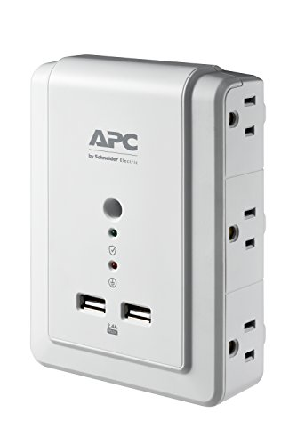 APC Wall Outlet Plug Extender, Surge Protector with USB Ports, P6WU2, (6) AC Multi Plug Outlet, 1080...