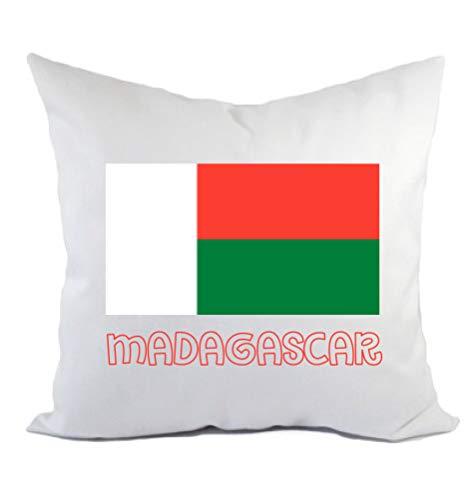 Typolitographie Ghisleri Kissen Madagaskar Flagge Kissenbezug & Füllung 40 x 40 cm aus Polyester
