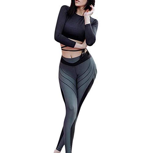 Targogo dames streep bedrukte fluor hoge slanke elastische T-shirt skinny dans fitness yoga broek sport legging joggingbroek