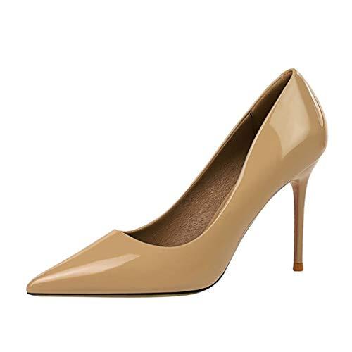 Zapatos de oficina para mujer Charol Estilo simple Punta estrecha Stiletto Banquete...