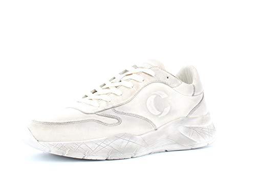 Crime Heren Schoenen Lage Sneakers 11009AA2.25 Wit Zekering Maat 43 Wit