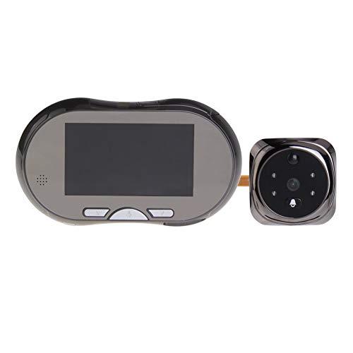 Lsmaa 4,3-Zoll-Digital-Projektor-Tür-Augen-Türklingel Wireless Home Türklingel 145 Grad Überwachungskamera for Privat (Color : Grey)