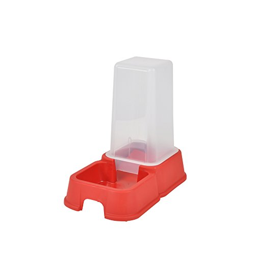 CODICO Distributeur d'Eau Rouge + Croquette pour Chat 1,5 L