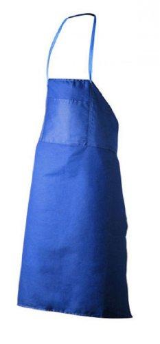 Tobeni 1808 Baumwoll-Köper Schürze mit Tasche für Arbeit Garten und Küche für Damen und Herren Farbe Blau Größe 80 x 100 cm
