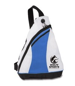 Wolfe Professional Pickleball Sling Bag - Crossbody Backpack for Women & Men - Zipper Pockets with Headphone Anti-Theft Wire Bag (Blue)