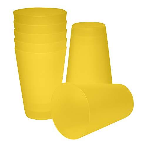 S&S-Shop - Vasos de plástico (0,4 L, 10 unidades), color amarillo
