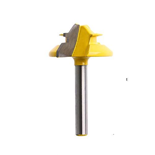 Meihejia 1/4 Inch Shank 45 Degree Lock Miter Router Bit 1/2 Inch Stock Joint Router Bit Woodworking CutterTool