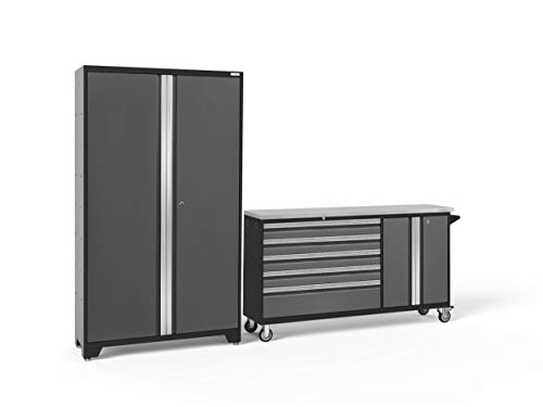 NewAge Products Bold Series Gray 2 Piece Set, Garage Cabinets, 50196