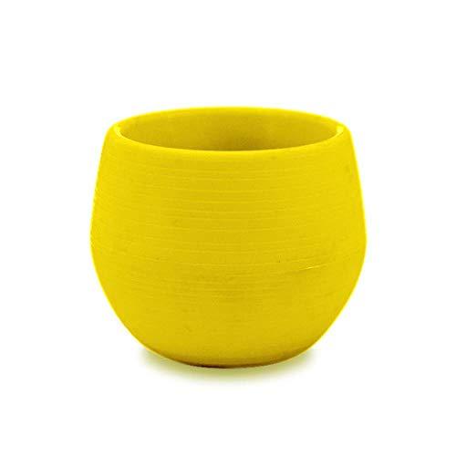 WYCYZJ Mini Plastic Kleurrijke Ronde Bloempot voor Planten, Tuin, Kantoor, Decoratie, Planter, Desktopbloem, Bloempotten, Amarillo