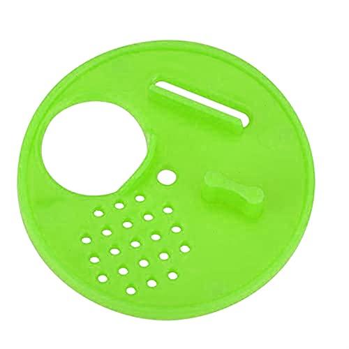 SHAOXI 30 unids Beehive Puerta multifunción regulación de rotación ventilación Salida de Aire partición Reina Colmena Circular plástico plástico Herramientas de Apicultura para Patio Trasero y Abeja