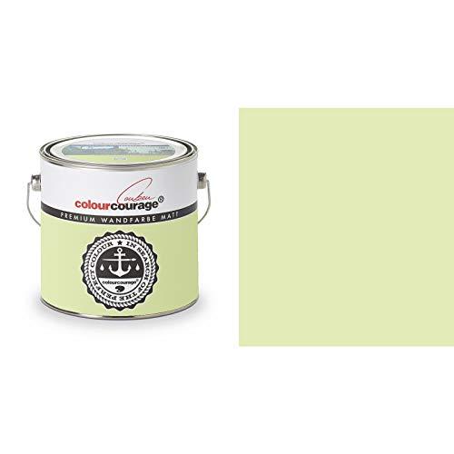 2,5 Liter Colourcourage Premium Wandfarbe Lime Cream Hellgrün | L719778607 | geruchslos | tropf- und spritzgehemmt