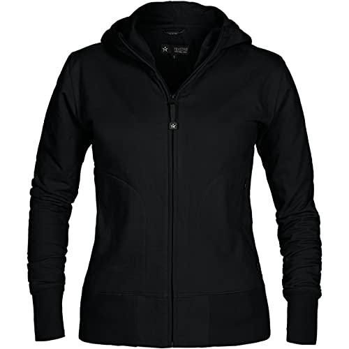 Texstar WC03 - Sudadera con capucha para mujer (talla L), color negro