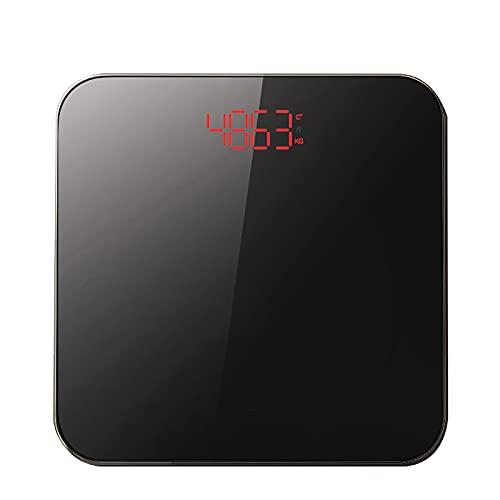 CYYAN Básculas de baño Digitales compactas, balanza electrónica con Pantalla Digital de Gran tamaño para un pesaje preciso, Plataforma de Vidrio endurecido, con escalón para Lectura instantánea