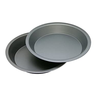 OvenStuff Non-Stick 9  Cake/Pie Pans, Set of Two - American-Made, Non-Stick Cake/Pie Baking Pan Set, Easy to Clean
