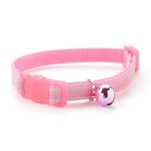 ラロック 猫首輪 アミコ 光に反射する猫カラー 01 色:PK ピンク・反射あり