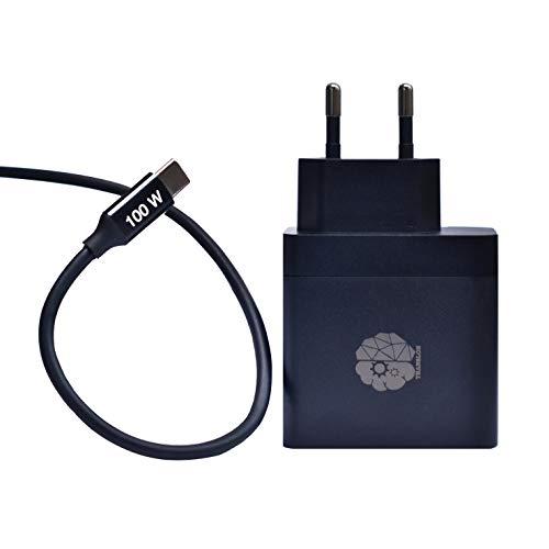 TRANSLON Cargador para teléfono móvil y portátil (65 W, USB tipo C PD 3.0, cable de carga de 100 W, USB tipo C PD 3.0)