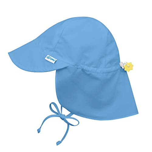 i play. Baby Flap Sun Protection Swim Hat, Light Blue, 0-6 Months