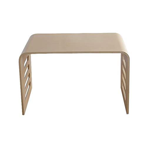 TLMY Mesa portátil de madera de la cama del escritorio portátil del desayuno sofá simple pequeño taburete piso niños mesa plegable