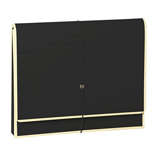 Semikolon (351982) Akkordeon mit Gummiverschluss black (schwarz) - Sammelmappe/Fächer-Mappe für A4 und US Letter Size - Format: 32,0 x 27,5 cm