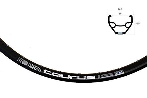 RYDE Vorderrad 26Zoll Rigida Taurus Disc schwarz 26Zoll Shim Deore M615 schw. Center Lock mit Schnellspanner,559 x 19,schwarz,26Zoll,Shim Deore M615 schw.