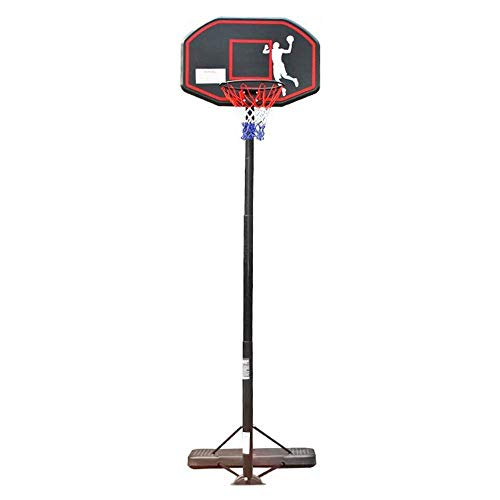 Teens Basketball Hoop Height Adjustable 245-305cm with Wheels Basketball Stand The Best Choice for Adult Outdoor Training Basketball Game