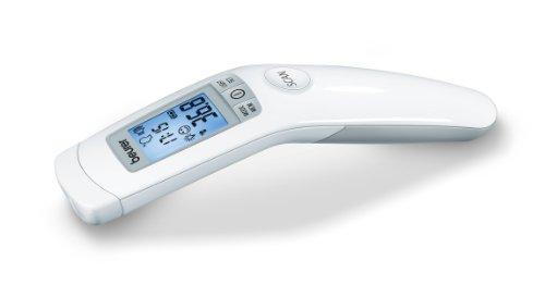 Beurer FT-90 - Termómetro digital clínico sin contacto con la piel, funciona por infrarrojos, color blanco