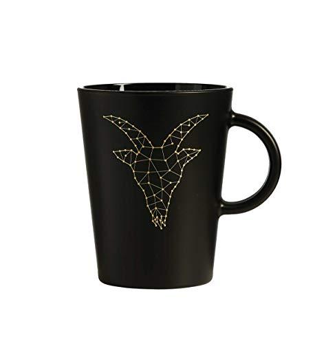 Zauberwerk Kaffeebecher mit Untertasse 380 ml Sternzeichen Steinbock