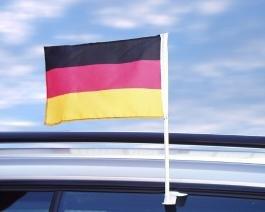 Deutschland - 10 Stück Auto-Scheibenflagge 45 x 30 cm - Fanartikel