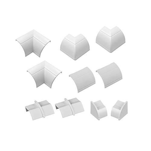 D-Line CLOAP22QSW Clip-Over Multipack | Aufsteckbare Verbindungsstücke | Verbinden Sie mehrere 22x22mm 10-teiliges Kabelkanal Zubehör Set-Weiß, Accessories