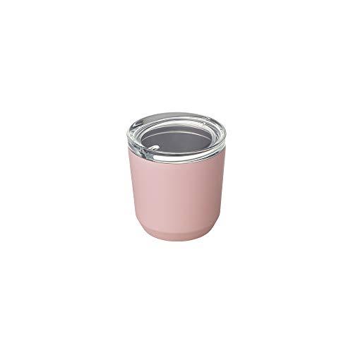 Kinto To-Go Trinkglas, 240 ml, φ86 x 90 mm, rosa, doppelwandig und vakuumisoliert, hält Ihr Lieblingsgetränk stundenlang warm oder kalt.