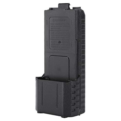 Vcriczk Estuche de batería, Estuche de batería portátil, Resistente al Desgaste Pequeño Reutilizable Fácil de Usar Negro para UV-5R, UV-5RB, UV-5RE, UV-5RE + BAOFENG