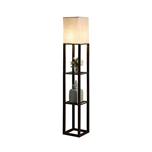 LED Shelf Floor Lamp for woonkamers en slaapkamers-Simple Ontwerp Moderne Staande Lamp met USB-poorten-LED Huis vertoningsplanken Lamp (Color : Brown, Size : 26cm*26cm*159cm)