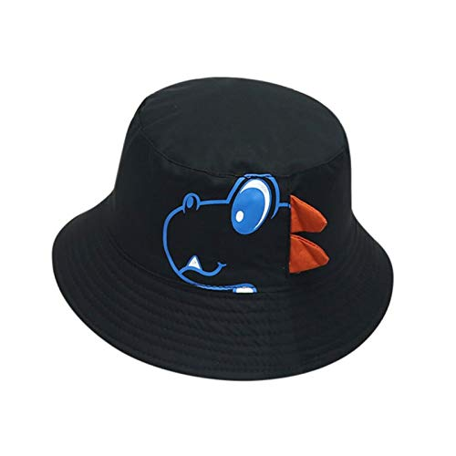 LIANGLMY Sombrero Bebé Sombreros Sombreros Suave Algodón Sunhat Aleros Béisbol Gorra Sombrero Sombrero Beret Princess Bebé Niña Brim Sun Sombreros Verano (Color : Black)