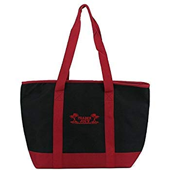 Trader Joe's Extra Large Red & Black Insulated Shopping Bag (Pack of 2)