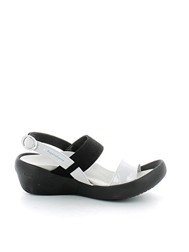Regetta Canoe, Low Wedge Muses Black, sándalo Born in Nippon Negro Size: 38