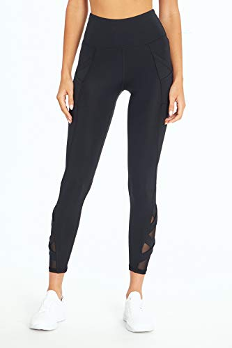 Bally Total Fitness Damen Exhale High Rise Pocket Knöchel-Leggings, Damen, knöchellange Leggings, Exhale High Rise Pocket Ankle Legging, schwarz, X-Large