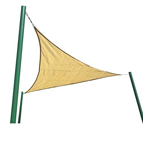 HAIZHEN Velas de Sombra Sun Shade Sail, Triangle Canopy Toldo Tela Tejido UV Bloque Servicio Comercial Grado Comercial Patio al Aire Libre Jardín para Patio, césped y jardín (Color : Earthy Yellow)