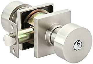 Emtek Round Key in Knob Satin Nickel 5122 Square Rosette