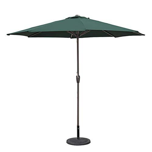GBTB Patio Umbrella 9ft Outdoor Sun Shade Umbrella, Sombrilla de Mesa para jardín Pool Deck Market Umbrella (Color: Verde, Tamaño: 9 Ft / 270cm)