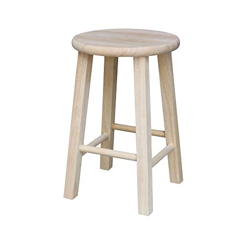 International Concepts 18Inch Round Top Stool Unfinished