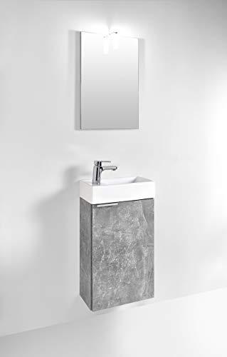 Homexperts GIZO Gastebad Set, Holzwerkstoff, Melamin Light Atelier, 41 x 25 x 128 cm
